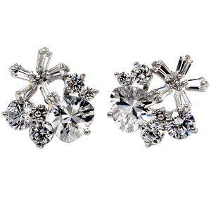 Sweety silver mini crystal earrings